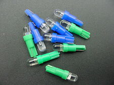 For Nissan 5 Blue 5 Green 12V LED Wedge Instrument Panel Lights Bulbs Lamps NOS