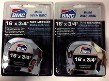 """BMC S166CHROME Tape Measure - 3/4"""" x 16'  2PCS"""