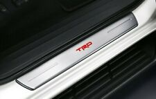 GENUINE TOYOTA HILUX TRD SCUFF PLATE DOOR SILL TRIM LED STAINLESS 4 PCS 15-20