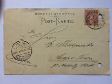 GERMANY Wurttemberg 1900 Postcard Stuttgart to Cape Town South Africa
