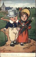 Tuck Oilette Gentle Art of Making Love GE Shepheard c1910 Postcard