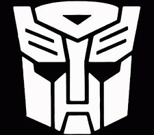 Transformers Autobot Vinyl Decal Sticker Car Hood Window Laptop White Decal
