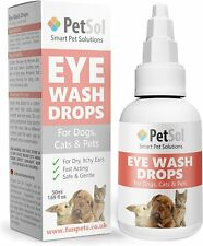 More details for petsol gentle eye care drops for dogs and cats - fast acting & safe - 50 ml