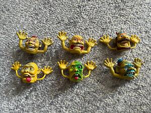 Vintage Lot 1 Of 6 Rubber Halloween Monster Finger Puppets