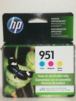 HP 951 Color Ink Cartridges C/M/Y Combo Pack CR314FN  Exp 2020  NIB