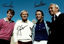 Arnold Palmer Jack Nicklaus Gary Player & Tom Watson Signed 12X8 Photo AFTAL COA