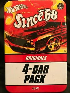 Hot Wheels Since 68 Originals 40 Year Anniversary 4 Car Pack Tin Sealed 2007 NIB