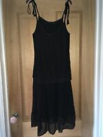 Reiss Party Dress Black Occasion Beaded Size 8-10