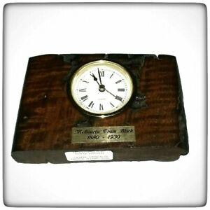 Clock - Wood ex melbourne tram Slab bolck - Wooden Rustic