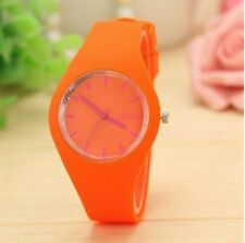 Fashion Big Silicon Silicone Jelly Ice Woman Ladies Sport Watch Color Unisex Men