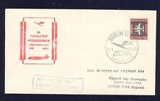 55082) LH FF München - London 1.2.59, Brief cover ab DDR EF 50PF Flugpost