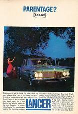 1961 Dodge Lancer Color - Original Car Advertisement Print Ad J142