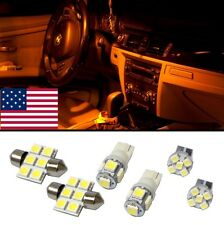 6 Amber LED interior lights package T10 & 31mm map dome + license plate lamp G1Y