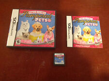 Nintendo DS Paws & Claws Pampered Pets Book &Case Included Rated E Free Shipping