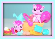 ❤️Littlest Pet Shop LPS CUTE Mommy & Baby Squirrel #3589 #3590 Accessories LOT❤️