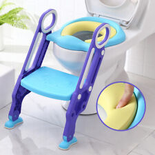 UPGRADED PAD Potty Training Toilet Seat with Step Stool Ladder for Boy & Girl