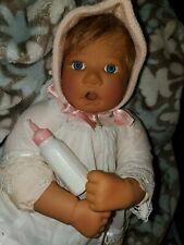 """Lee Middleton Doll vinyl 19""""  1996 Signed & Numbered  Blu Eyes # 081595 VGC"""