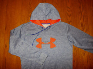 UNDER ARMOUR STORM PURPLE HEATHER HOODED SWEATSHIRT WOMENS LARGE EXCELLENT COND.