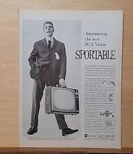 1959 magazine ad for the RCA Sportable Television - portable Eldorado model