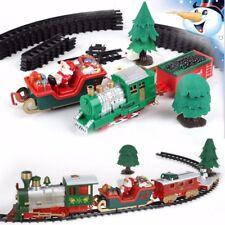 Set Petit Train Jeux Jouet Père Noël Cadeau Lumière Musicale Electrique Enfant