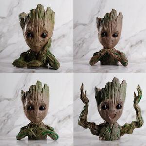 Guardians of Galaxy Baby Groot Tree Man Doll Flower Pot Penpot Kids Toy Gift Set