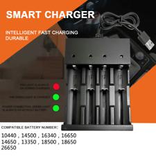 4-slot 3.7V USB Smart Charger Fast Charging Dock For 18650 18350 Li-ion Battery