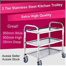 3-Tier Stainless Steel Kitchen Dining Food Catering Trolley Cart VIC Pick up