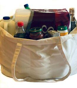 Plain Canvas Foldable Shopping Bag Reusable Cotton Shoulder Market Totes
