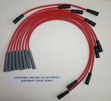 CHEVY/GMC 1996-2000 7.4L 454 SUBURBAN,YUKON,DENALI Red 8mm SPARK PLUG WIRES USA