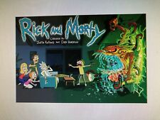 RICK AND MORTY 24X36 POSTER TELEVISION TV CARTOON NETWORK ADULT SWIM FUNNY COMIC