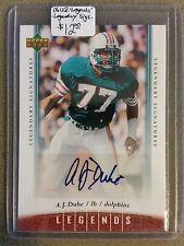 2006 Upper Deck Legends Legendary Signatures #56 A.J. Duhe : Miami Dolphins