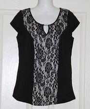 Womens size 10 black & beige dress top made by CROSSROADS