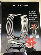 8 In Avon Gallery Original Ribbed 24% Full Lead Crystal Sculpture Vase Was $45