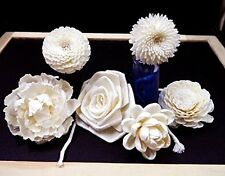 6 Balsa Wood Sola Diffuser Flowers with mix of flower 5-8 cm. Diameter.