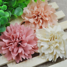 9/45pcs 75mm Big Ribbon Flowers Bows Rose Wedding Craft Decor Appliques Mix A173