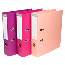 3 x Pink Shades A4 Lever Arch Files Storage File Office Paper Archive Folders