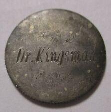 Extraordinarily Engraved  Dr  Kingsman on a Silver 1901 Barber Dime Love token