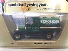 Matchbox Yesteryear Y-3 1912 Model T Ford Tanker Zerolene Standard Oil Company