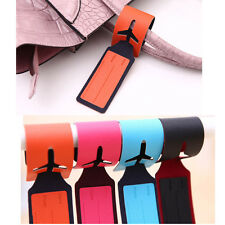 Attractive Leather Travel Bag Trip Luggage Suitcase Name Holder Label ID Tags