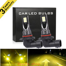 9005 HB3 LED Headlight Bulbs Kit High Beam 350W 40000LM 3000K Yellow High Power
