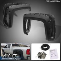 8 Fleetside Bed 14-18 4Pcs Pocket-Riveted Style Wheel Fender Flare Replacement for Chevy Silverado 2500HD 3500HD 6.5
