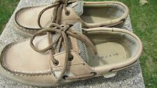 SPERRY TOP-SIDER BLUEFISH LC SZ 2.5M UK 2 EUR 34.5 OATMEAL/TAN SHOE
