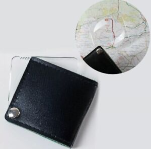 Small Magnifying Glass Fold Away Pocket Magnifier Map Reading Eye Tool Lens NEW