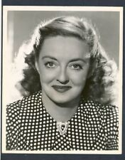 NICE BETTE DAVIS CLOSE-UP - NEAR MINT COND. PHOTO BY ALEXANDER KAHLE FOR RKO