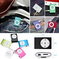 Mini Metal Clip USB Music MP3 Player Support 32GB Micro SD TF Card + Earphone