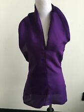 YVES SAINT LAURENT Purple Silk Halter Top Dress Tunic Blouse 38