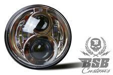 """LED SCHEINWERFER 7"""" mit Zulassung Chrome Harley Davidson Road King BSB Customs"""