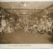 Large 1920s Photo of Masquerade Costume Ball on Board Steamship S.S. Rotterdam