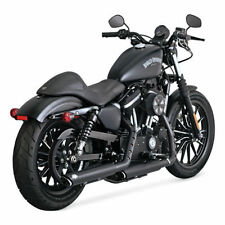 Vance & Hines Exhaust Black 3in Twin Slash Slip-On Mufflers Sportster 46861