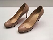 Christian Louboutin Nude Patent Leather Platform Pumps Heels Shoes - Size 38